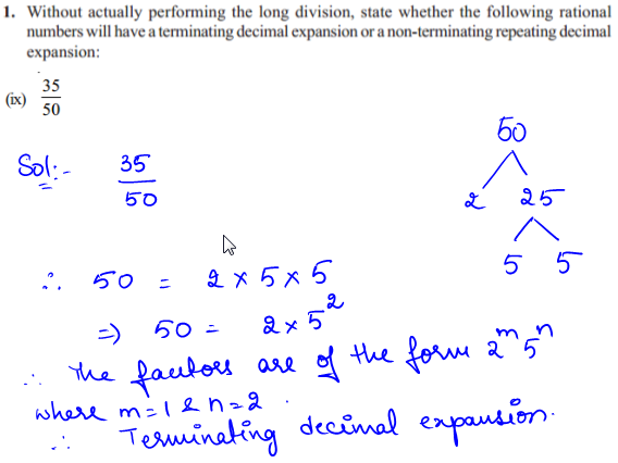 NCERT Solutions for Class 10 Chapter 1 Real numbers Ex 1.4 Q1 ix