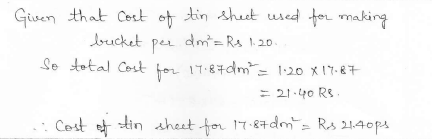 RD Sharma Class 10 Solutions Surface areas and Volumes Ex 16.3 Q1_ii