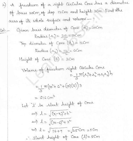 RD Sharma Class 10 Solutions Surface areas and Volumes Ex 16.3 Q2_i