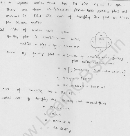 RD-Sharma-class 10-maths-Solutions-chapter 15-Areas related to Circles- Exercise 15.4-Question-9
