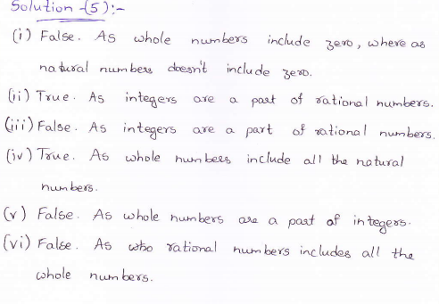 RD Sharma class 9 maths Solutions chapter 1 Number System Exercise 1.1 Question 5