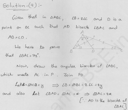 RD-Sharma-class 9-maths-Solutions-chapter 10-Congruent Triangles-Exercise 10.3-Question-9