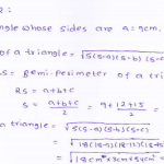 RD-Sharma-class 9-maths-Solutions-chapter 12 - Herons Formulae -Exercise 12.1 -Question-2