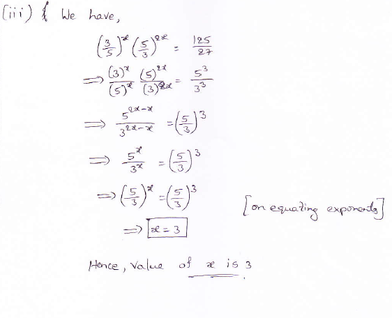 RD Sharma class 9 maths Solutions chapter 2 Exponents of Real Numbers Question 5 (iii)