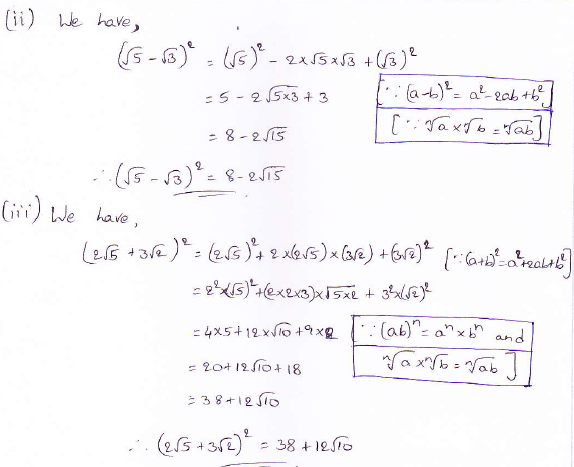 RD Sharma class 9 maths Solutions chapter 3 Rationalisation Exercise 3.1 Question 4 (ii) (iii)