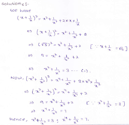 RD Sharma class 9 maths Solutions chapter 4 Algebraic Identities Exercise 4.1 Question 6