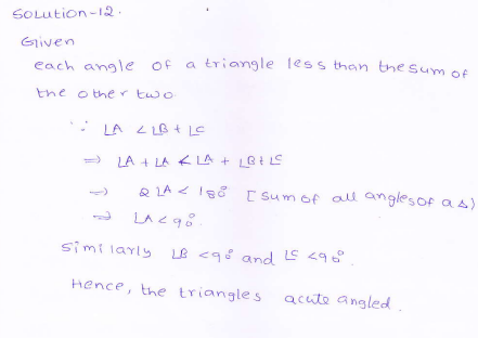 RD-Sharma-class 9-maths-Solutions-chapter 9 - Traingles and Its Angles -Exercise 9.1 -Question-12