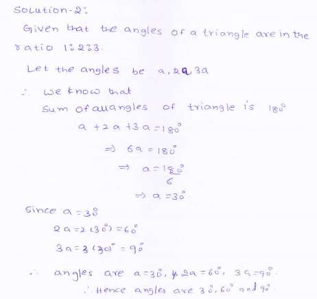 RD-Sharma-class 9-maths-Solutions-chapter 9 - Traingles and Its Angles -Exercise 9.1 -Question-2
