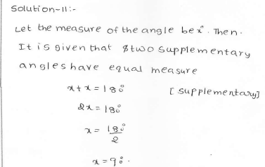 RD Sharma Class 7 Solutions 14.Lines and angles Ex-14.1 Q 11