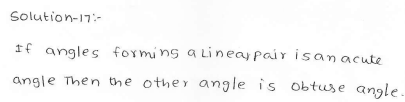 RD Sharma Class 7 Solutions 14.Lines and angles Ex-14.1 Q 17