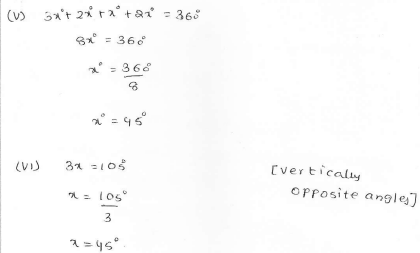 RD Sharma Class 7 Solutions 14.Lines and angles Ex-14.1 Q 20 ii