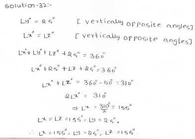 RD Sharma Class 7 Solutions 14.Lines and angles Ex-14.1 Q 32