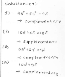 RD Sharma Class 7 Solutions 14.Lines and angles Ex-14.1 Q 7