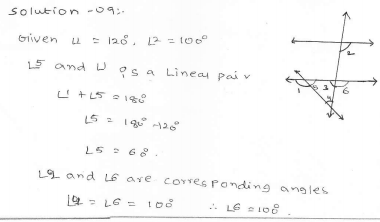 RD Sharma Class 7 Solutions 14.Lines and angles Ex-14.2 Q 9 i