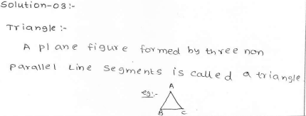 RD Sharma Class 7 Solutions 15.Properties of triangles Ex-15.1 Q 3