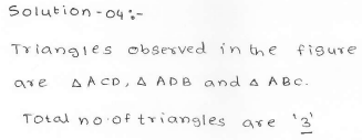 RD Sharma Class 7 Solutions 15.Properties of triangles Ex-15.1 Q 4
