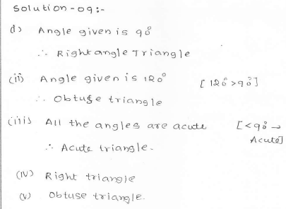 RD Sharma Class 7 Solutions 15.Properties of triangles Ex-15.1 Q 9