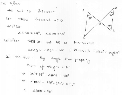 RD Sharma Class 7 Solutions 15.Properties of triangles Ex-15.2 Q 26
