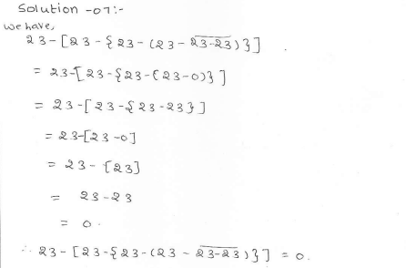 RD Sharma class 7 solutions 1.Integers Ex-1.4 Q 7