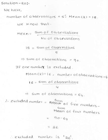 RD Sharma class 7 solutions 23.Data Handling-II (central values) Ex-23.1 Q 20