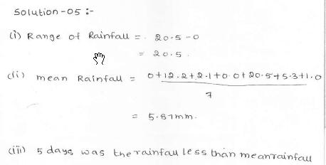 RD Sharma class 7 solutions 23.Data Handling-II (central values) Ex-23.1 Q 5