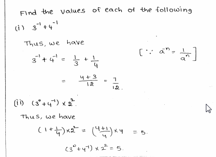 RD Sharma Class 8 Solutions Chapter 2 Powers Ex 2.1 Q 2 i