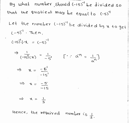RD Sharma Class 8 Solutions Chapter 2 Powers Ex 2.1 Q 7