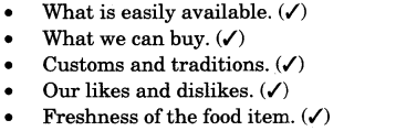 NCERT Solutions for Class 3 EVS Foods We Eat Likes and Dislikes Q3