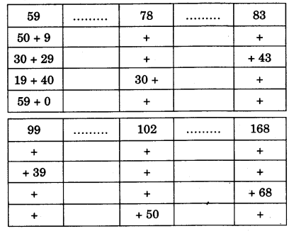 NCERT Solutions for Class 3 Mathematics Chapter-3 Give and Take Mind Train 1