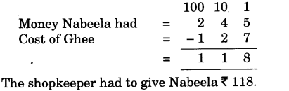 NCERT Solutions for Class 3 Mathematics Chapter-6 Fun With Give and Take Can You Help Nabeela Q1