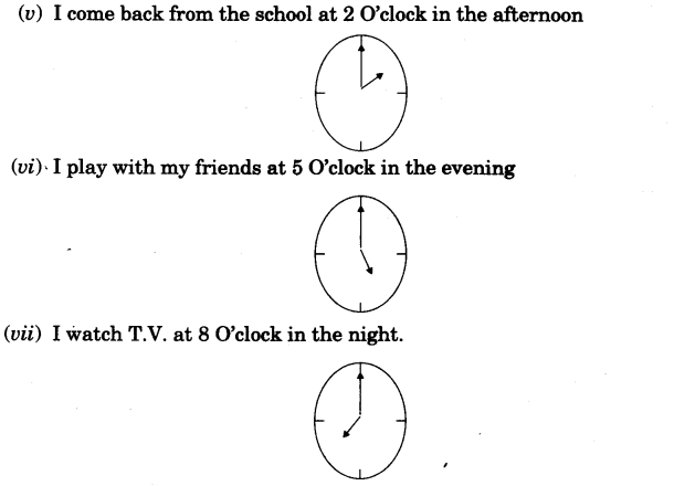NCERT Solutions for Class 3 Mathematics Chapter-7 Time Goes On One Day in the Life of Kusum Q2.1