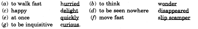 NCERT Solutions for Class 4 English Unit-4 Chapter 8 Alice in Wonderland Lets Write Q1