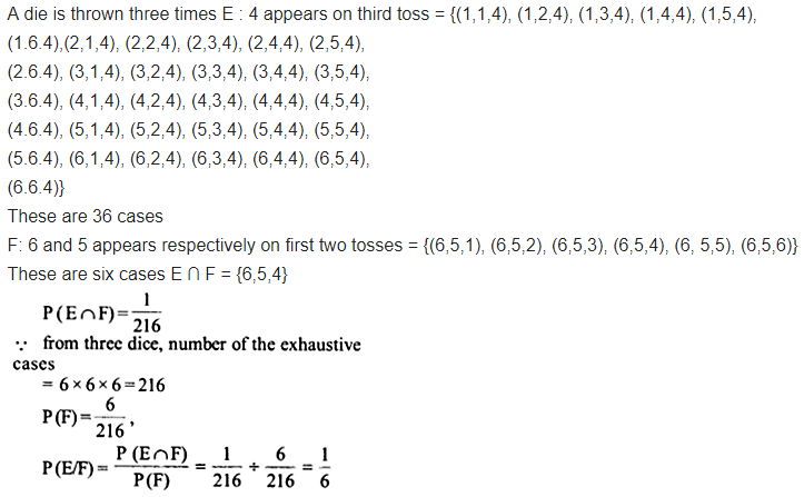 Class 12 Maths NCERT Solutions Chapter 13 Probability Ex 13.1 Q 8