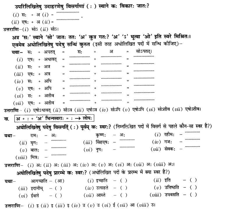 NCERT Solutions for Class 10th Sanskrit Chapter 1 सन्धि 21