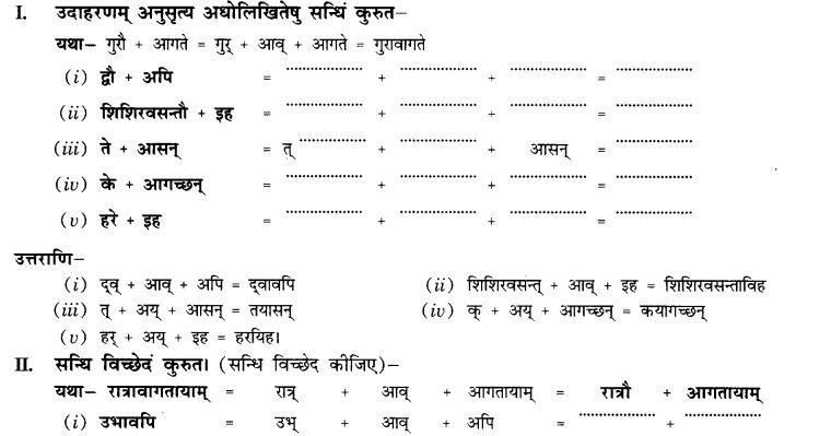 NCERT Solutions for Class 10th Sanskrit Chapter 1 सन्धि 4