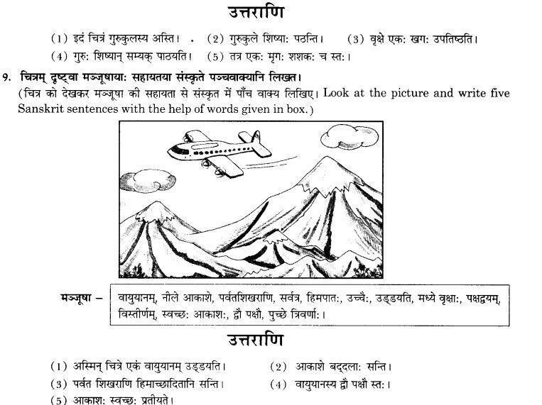 NCERT Solutions for Class 10th Sanskrit Chapter 3 Chitraadharitam Varnanam 14