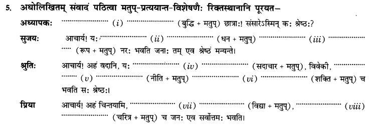 NCERT Solutions for Class 10th Sanskrit Chapter 4 Pratyayah 17