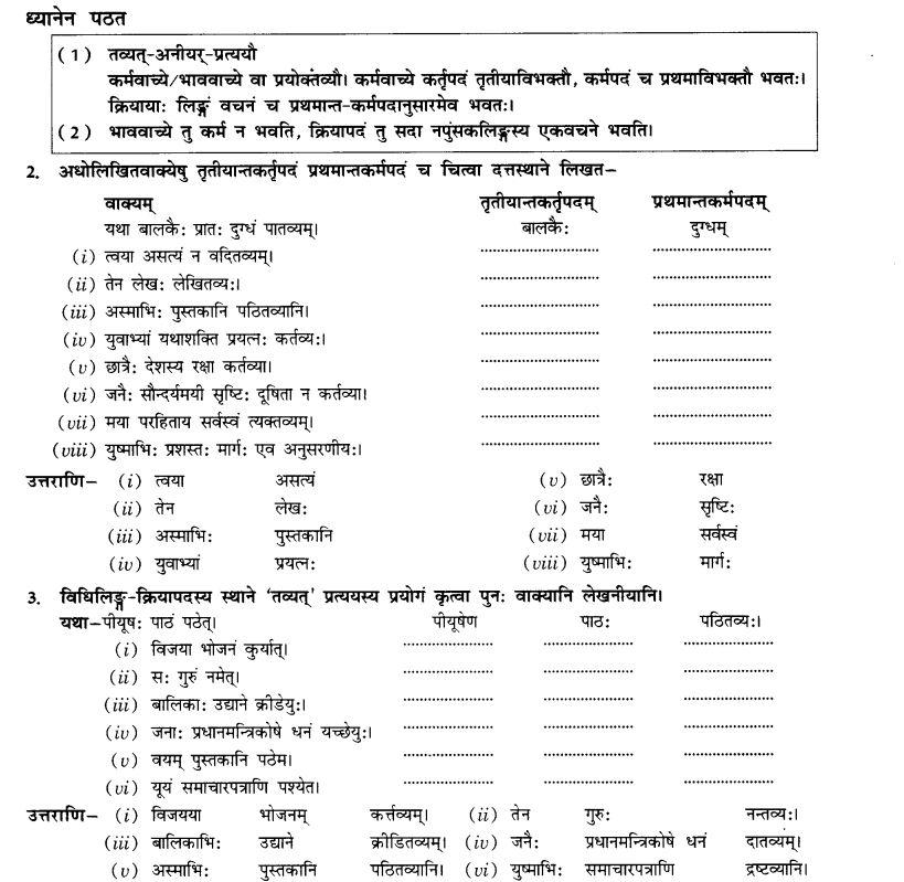 NCERT Solutions for Class 10th Sanskrit Chapter 4 Pratyayah 3