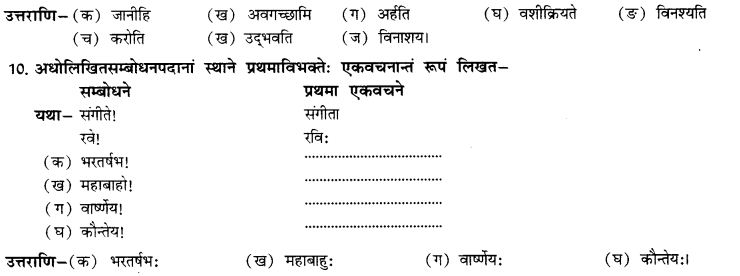 NCERT Solutions for Class 10th Sanskrit Chapter 5 Abhyasavashagam Manah 29