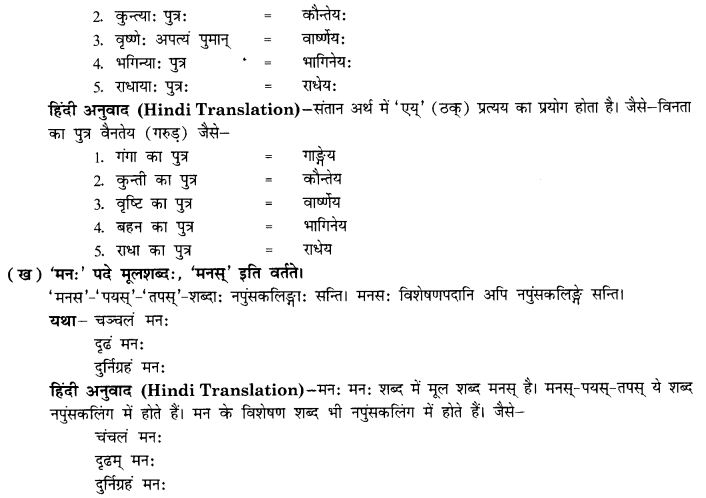 NCERT Solutions for Class 10th Sanskrit Chapter 5 Abhyasavashagam Manah 36