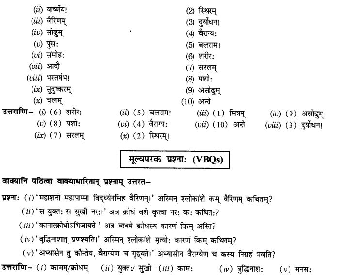 NCERT Solutions for Class 10th Sanskrit Chapter 5 Abhyasavashagam Manah 44