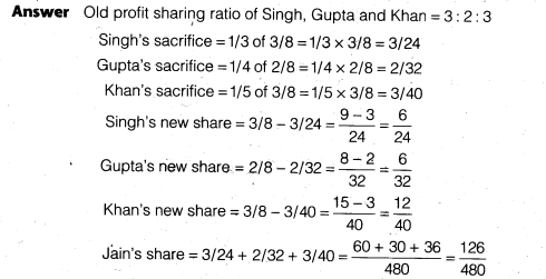NCERT Solutions for Class 12 Accountancy Chapter 3 Reconstitution of a Partnership Firm – Admission of a Partner Q10