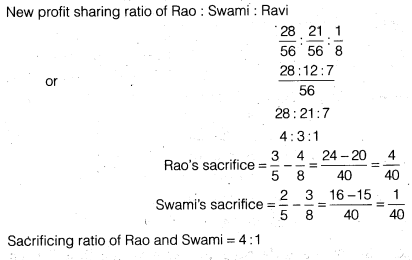 NCERT Solutions for Class 12 Accountancy Chapter 3 Reconstitution of a Partnership Firm – Admission of a Partner Q12.1