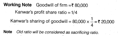 NCERT Solutions for Class 12 Accountancy Chapter 3 Reconstitution of a Partnership Firm – Admission of a Partner Q23.1