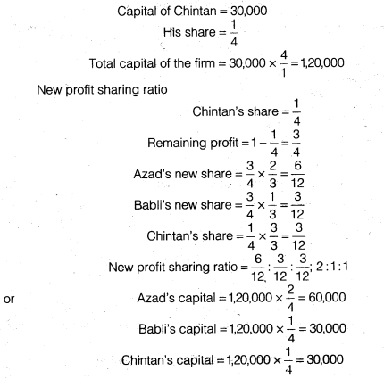 NCERT Solutions for Class 12 Accountancy Chapter 3 Reconstitution of a Partnership Firm – Admission of a Partner Q34.6