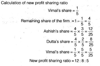 NCERT Solutions for Class 12 Accountancy Chapter 3 Reconstitution of a Partnership Firm – Admission of a Partner Q35.5