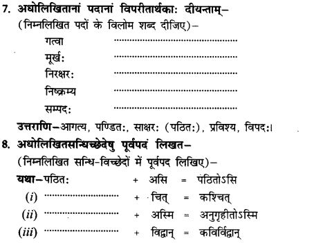 NCERT Solutions for Class 9th Sanskrit Chapter 12 Kavayami Kavayami Yami 24