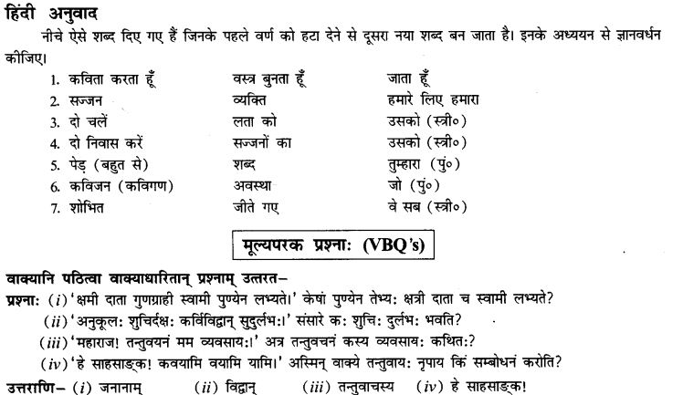 NCERT Solutions for Class 9th Sanskrit Chapter 12 Kavayami Kavayami Yami 30