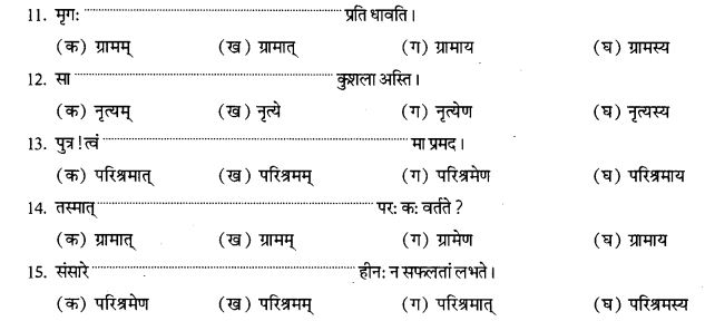 NCERT Solutions for Class 9th Sanskrit Chapter 16 Adhikarana Karak Proyogah 18