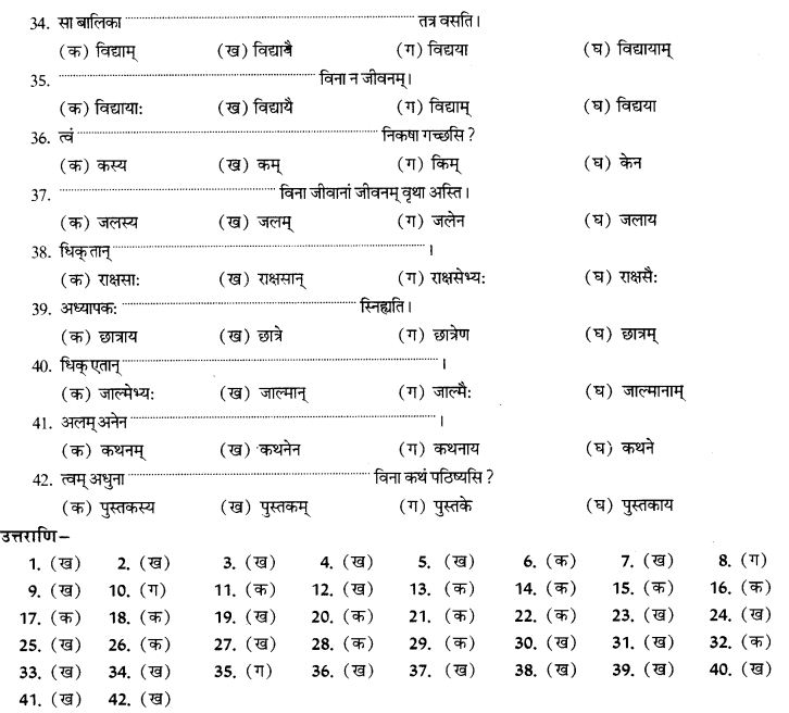 NCERT Solutions for Class 9th Sanskrit Chapter 16 Adhikarana Karak Proyogah 21
